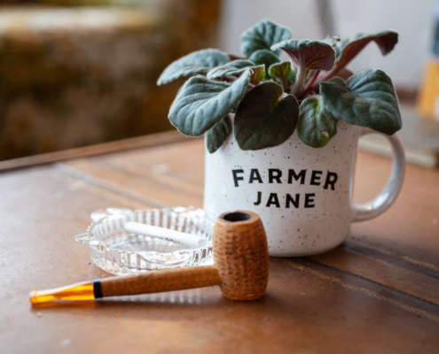 Farmer Jane Mug and Pipe