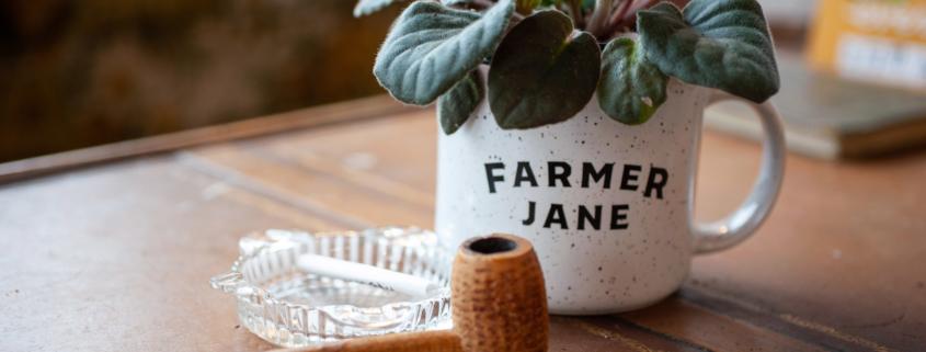 Farmer Jane Mug and Pipe